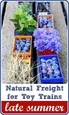 Natural freight for toy trains.