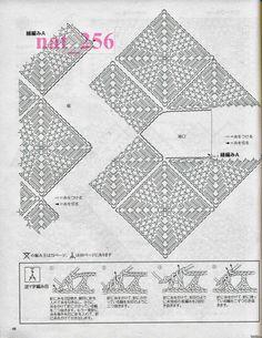 crochelinhasagulhas: Blusa em square diagonal de crochê