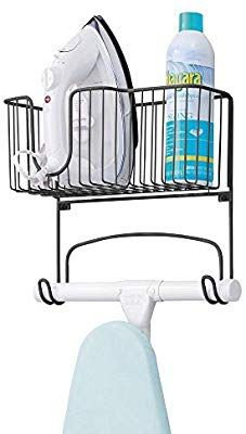 Amazon Com Mdesign Metal Wall Mount Ironing Board Holder With