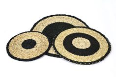 Lowen Placemats in Black/Natural Natural, Black, Home, Black People, Ad Home, Homes, Nature, Haus, Houses