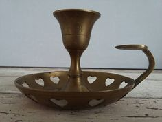 Your place to buy and sell all things handmade Candlestick Holders, Candlesticks, Copper, Brass, Bohemian Decor, Etsy Vintage, Decorative Bowls, It Is Finished, Heart