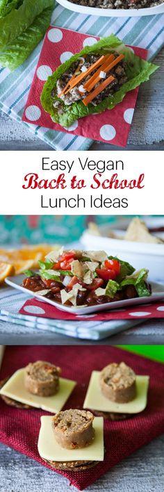 Easy Vegan Back to School Lunch Ideas | DIY Lunchables | Mushroom Tofu Lettuce Wraps | Mexican Haystacks