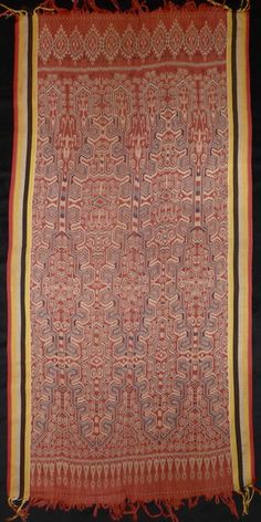 Pua, ritual cloth, Iban people, West Kalimantan. Cotton, warp ikat, early 20th century