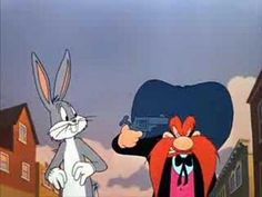 Bugs bunny and Yosemite Sam settling their problems with a good ol fashion game of Russian roulette. Old School Cartoons, Old Cartoons, Classic Cartoons, Cartoon Books, Cartoon Art, Cartoon Characters, Yosemite Sam, Merrie Melodies, Ol Fashion