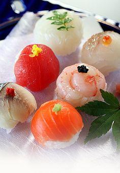 temari-zushi: sushi balls