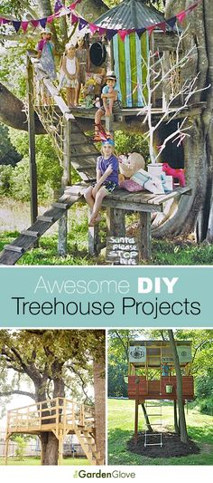 DIY Treehouse Projects and Tutorials