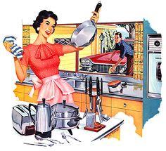 1960- pans make her happy