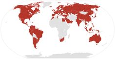 Presencia del Grupo Inditex en el mundo en 2012