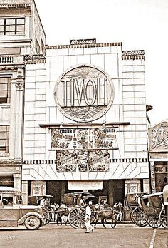 Tivoli Movie Theater, Manila, Philippines, 1940 Pre-WWII Manila as the Pearl of the Orient before WWII took it all away with the Japanese invasion one year later. Photographer: Harrison Forman 1904-1978 This image is from the original negative held in the collections at the American Geographical Society Library (AGSL), University of Wisconsin-Milwaukee USA. Source : John Tewell Collection ~ Mutya