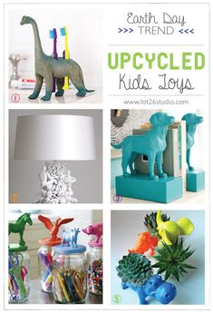 {On the Blog} TRENDS: Earth Day Upcycled Kids Toy DIY projects from Parents Magazine, housetohome and more! Which one is your favorite?