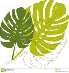 Pix For > Tropical Leaf Outline
