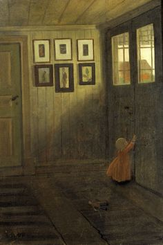 The girl at the door. Interior of the artist's house by Ivar Arosenius on Curiator - http://crtr.co/2reo.p