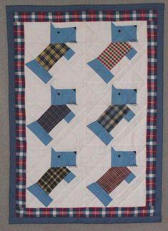 Paper Pieced Scottie Dog by Judy Anne Breneman from Womenfolk