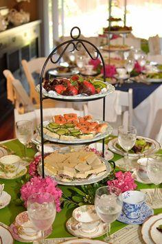 Trendy Ideas for elegant brunch buffet tea sandwiches Bridal Shower Appetizers, Tea Party Bridal Shower, Food For Bridal Shower, Coffee Bridal Shower, Tea Party Wedding, Tea Party Menu, Tea Party Table, Party Party, Food For Tea Party