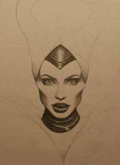 Is awsomeee Pencil Art Drawings, Art Drawings Sketches, Cartoon Drawings, Easy Drawings, Drawing Art, Cute Disney Drawings, Disney Sketches, Maleficent Drawing, Joker Art