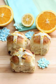 Hot Cross Buns with Lemon-Orange Frosting This seasonal treat is full of citrus flavor. Orange and lemon zest are combined with dried fruits and incorporated into a soft and tender spiced roll. Each...