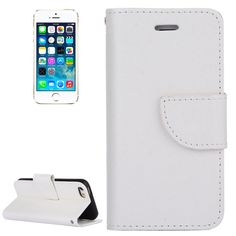 [USD2.33] [EUR2.11] [GBP1.64] Cross Texture Horizontal Flip Solid Color Leather Case with Holder & Card Slots & Wallet for iPhone SE, Small Quantity Recommended before iPhone SE Launching(White)