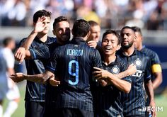 Icardi scores during friendly between Inter Milan and Real Madrid