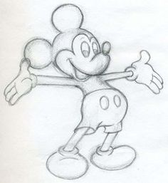 My Disney Drawing - Mickey Mouse Drawing - - . My Disney Drawing - Mickey Mouse Drawing - Instructions-dekoki . Easy Disney Drawings, Disney Sketches, Easy Drawings, Drawing Disney, Funny Drawings, Easy To Draw Disney, Outline Drawings, Disney Character Drawings, Easy Drawing Pictures