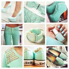 Adorable mint green fashion