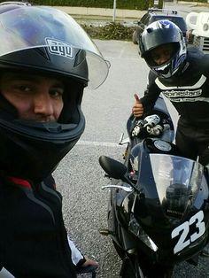 Motorbike with friend
