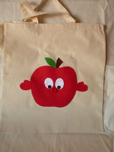 Items similar to Apple Hug Shopping Cotton Tote on Etsy Feeling Under The Weather, Sending Hugs, Country Farmhouse, Say Hi, Friend Birthday, Reusable Tote Bags, Apple, Trending Outfits, Unique Jewelry