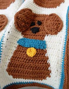 Picture of Puppy Love Afghan and Pillow Crochet Pattern