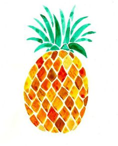 8x10 Pineapple Print // Sarah Tate Designs