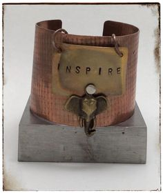 A personal favorite from my Etsy shop https://www.etsy.com/listing/252644507/inspire-copper-cuff