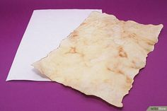 How to Make Parchment Like Paper for Writing: 8 Steps