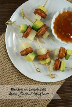Authentic Suburban Gourmet: Manchego and Sausage Bites with Apricot Jalapeno D...