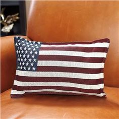 Flag Patriotic Pillow - 4th of July Decor | Lillian Vernon