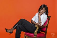 Our First Lady just chillin