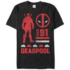 Deadpool 91 Taco T-Shirt  https://www.rusticnova.com/collections/deadpool-collection/products/deadpool-call-me-t-shirt?variant=34161871939#/products/deadpool-call-me-t-shirt