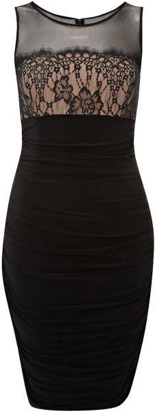 Js collections lace bust panel dresses