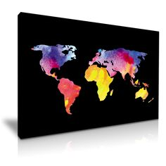 The 131 best interieur2 images on pinterest desk globe world world map water colour splash wall art print framed canvas box more size gumiabroncs Images