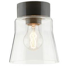 Plafonnier scandinave minimaliste, aux formes élancées et fabriqué en verre et en céramique