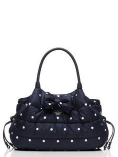 colby court stevie baby bag - kate spade new york - How adorable is this baby bag? It will fit perfectly with my black and white wardrobe obsession! #KATESPADE #BABYBAG