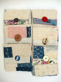 Mandy Pattullo/Thread and Thrift - Keepsake envelopes from old quilts could use for needle keeper Quilting Projects, Sewing Projects, Projects To Try, Sewing Kits, Art Textile, Textile Artists, Old Quilts, Vintage Quilts, Fabric Crafts