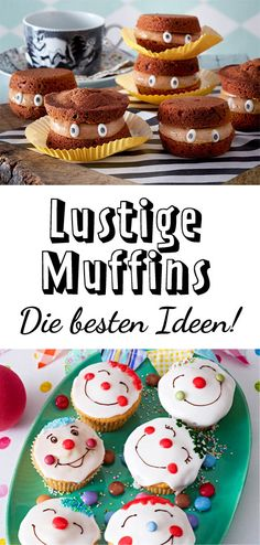 Funny cupcakes - recipes for cupcakes with a fun factor-Lustige Muffins – Rezepte für kleine Kuchen mit Spaßfaktor What fun! funny make us grin from now on. Cupcakes Amor, Funny Cupcakes, Muffin Recipes, Cupcake Recipes, Nutella, Scones Ingredients, Childrens Meals, Oreo, Birthday Cakes