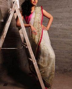 White Sari – StylishMob