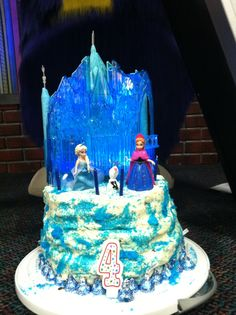 Disneys Frozen cake Designed it myself and Publix created it
