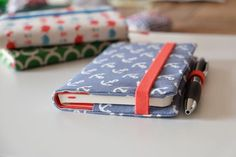 notebook cover with pen loop