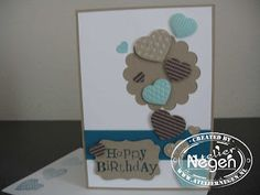 Stampin' Up! Scallop Circle punch, Decorative Label punch, Fashionable Hearts Embosslits, Wacky Wishes stamp set