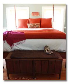 How to make a luxury bed - the simple way, via Fieldstone Hill Design