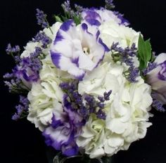 A F Hydrangea and Lisianthus Bouqet (Smaller)