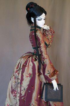 Elven Court Dress for Dollmore Model 70cm woman BJD | via Etsy