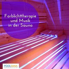 Farblichttherapie und Musik in der Sauna #sauna #wellness
