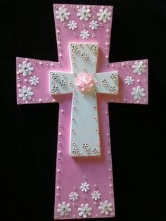 Hand Painted Wooden Crosses. If you would like a custom cross made email sales@