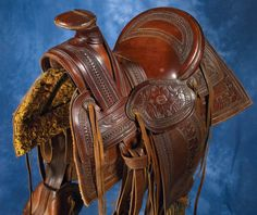 Caballero saddle, hand tooled in Mexico